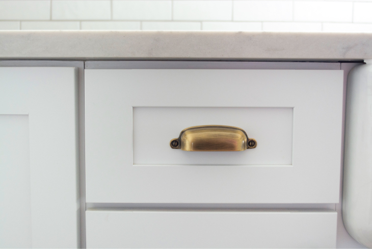I Went With Simple And Classic Hardware With An Antique Brass Finish. The  Really Cool Thing About The Hardware Is Each Piece Is Made From 100%  Recycled ...