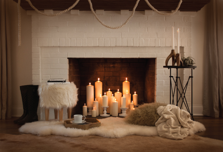 Candles For Fireplace Decor fireplace diy - room for tuesday