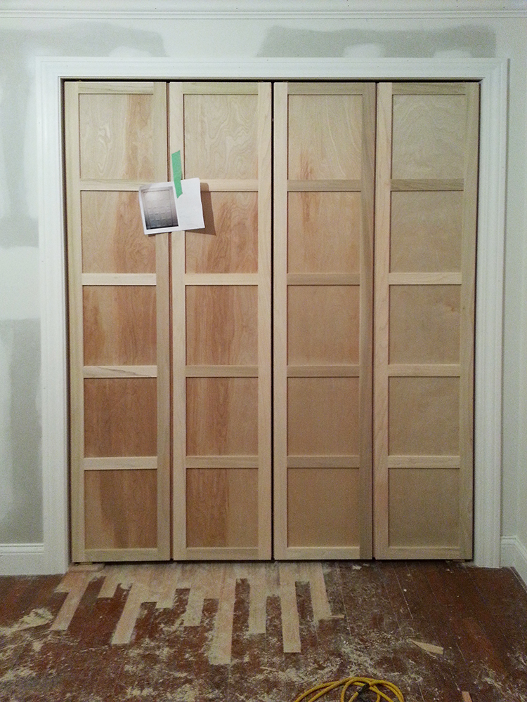 Paneled bi fold closet door diy room for tuesday for Closet door ideas diy