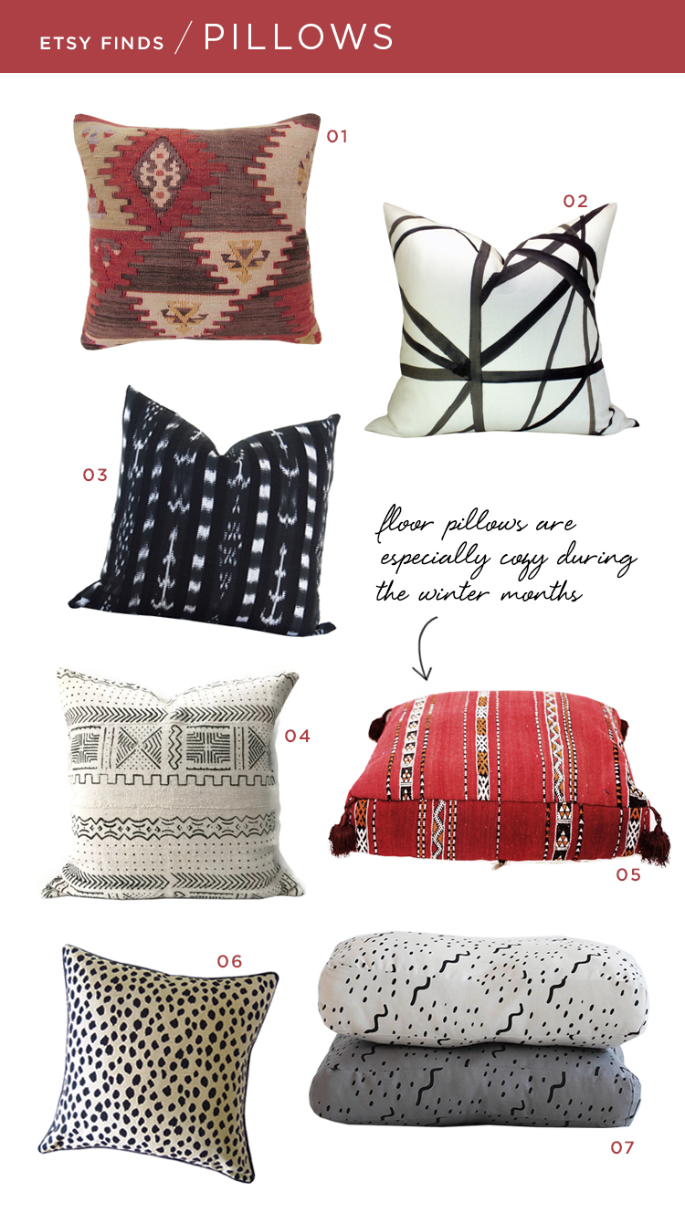 Etsy Throw Pillows Etsy Finds Room For Tuesday