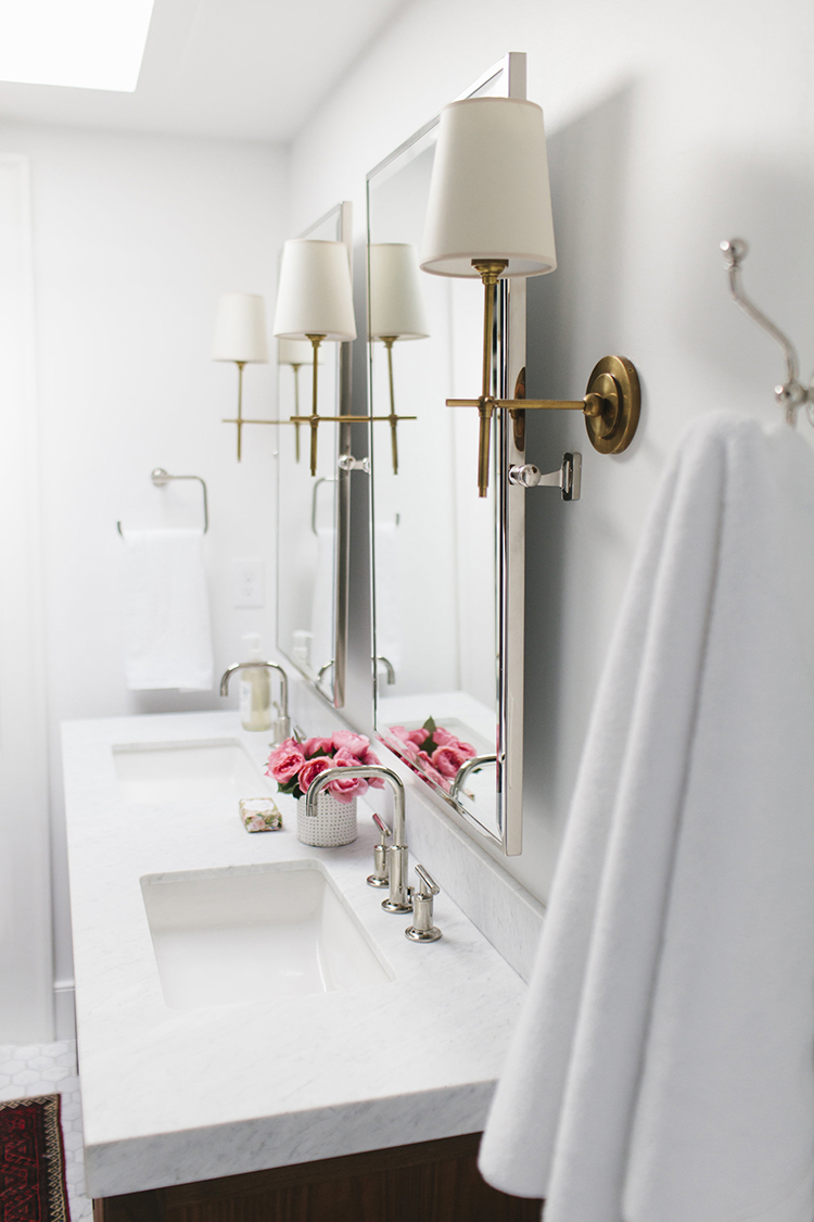 Bathroom Wall Sconces Placement : Favorite Wall Mirrors of Every Shape - Room For Tuesday