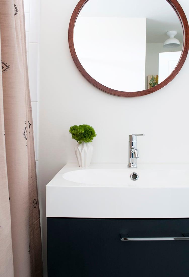 boho bathroom. sink and vanity A Boho Bathroom  Room For Tuesday