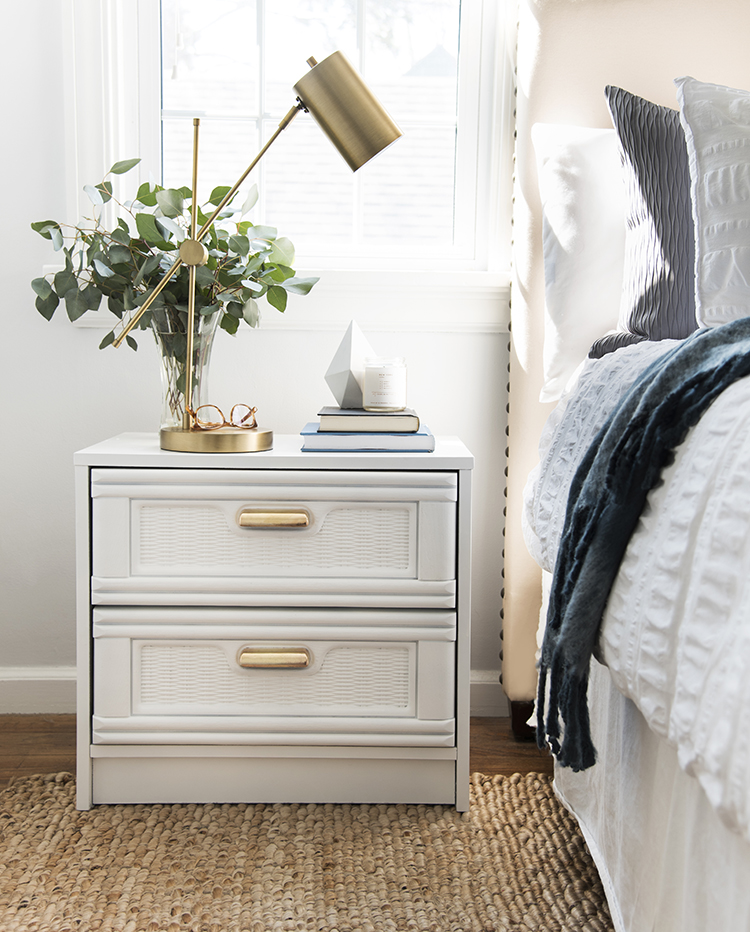 Faux Bamboo Nightstand DIY