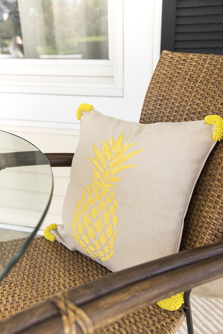 Beaded Pineapple Pillow