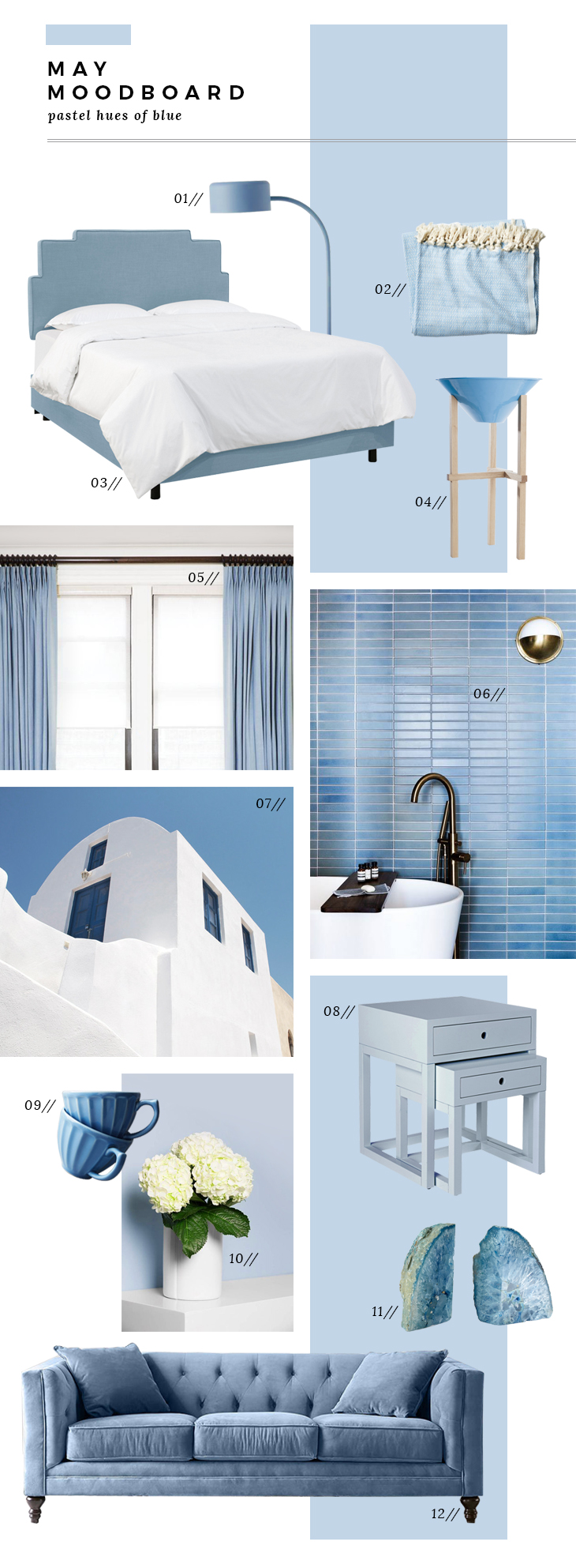 May Mood Board - Summer Blues