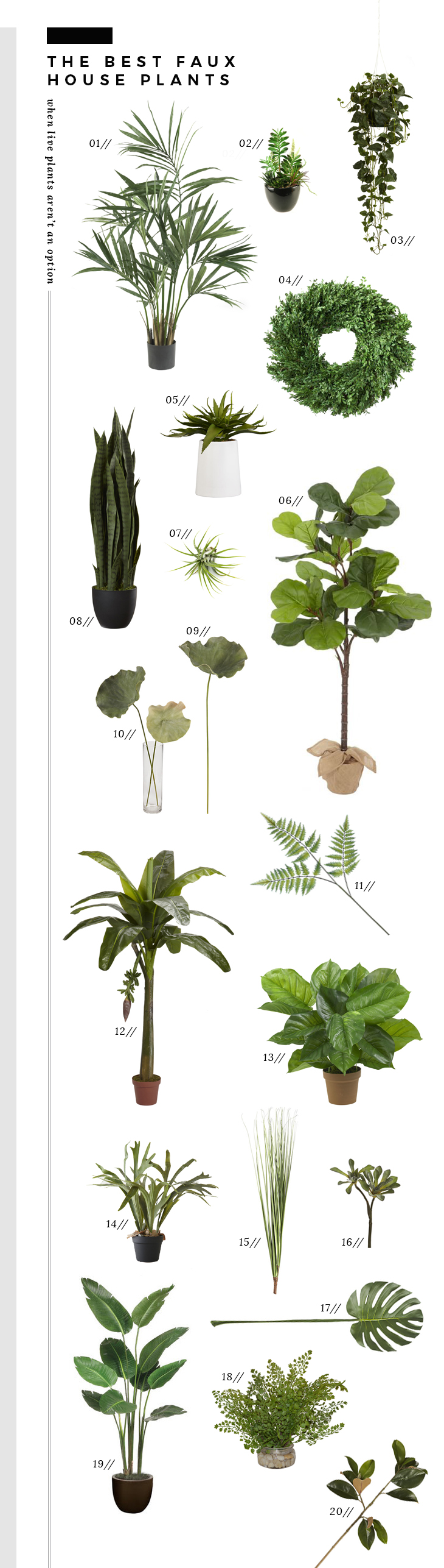 The Best Faux Plants