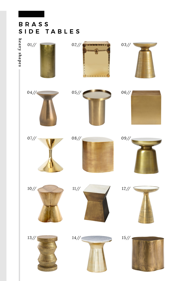 Martini Side Table the best brass side tables of every style and price - room for tuesday