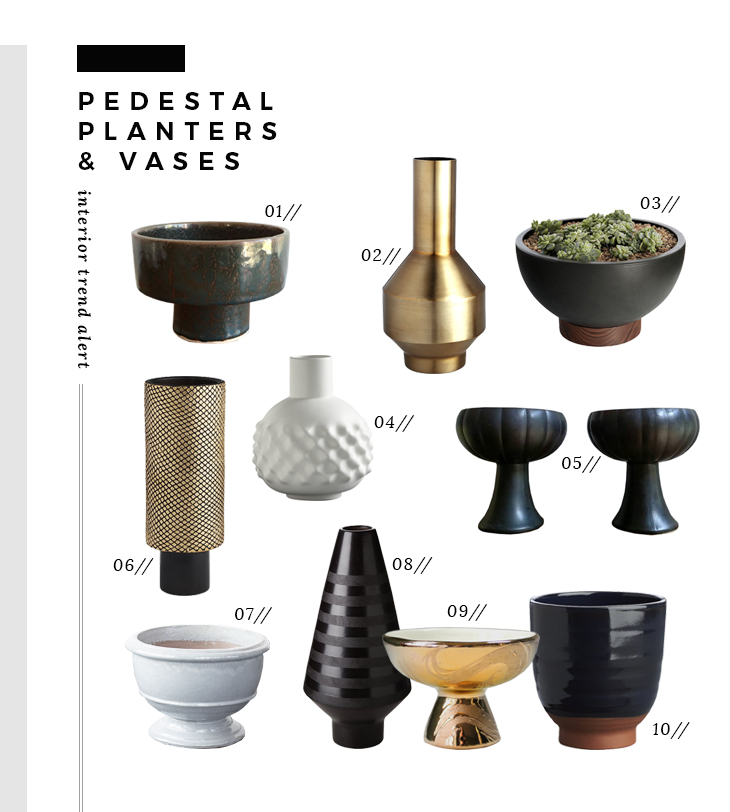 pedestal-planters-vases