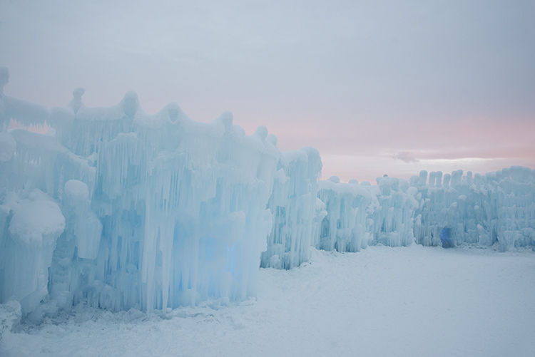ice-castle-sunset