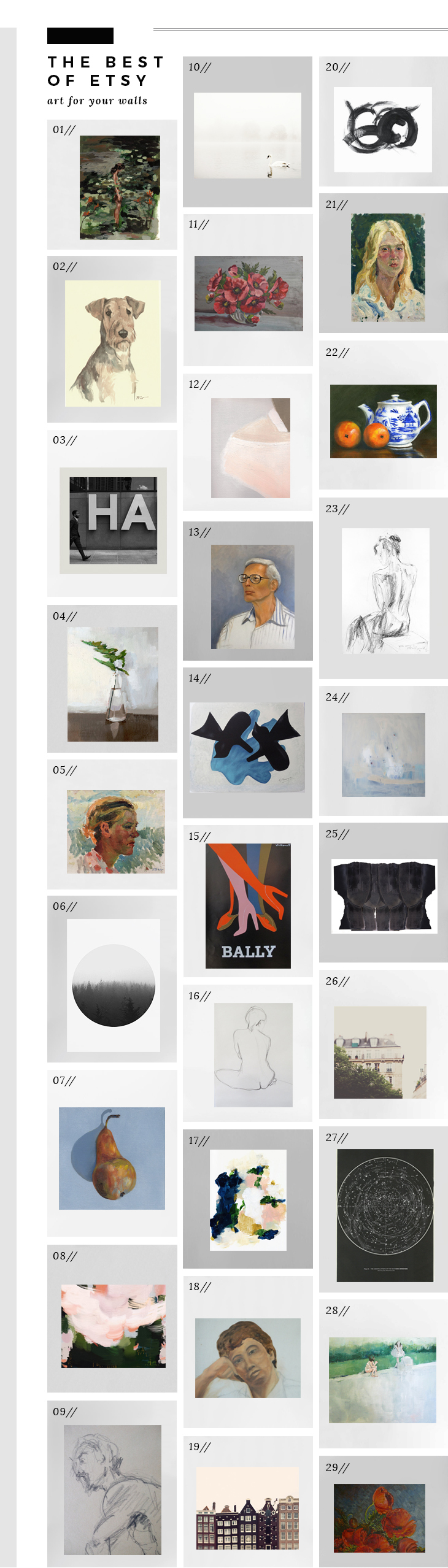 Best Wall Decor On Etsy : Best of etsy art for your walls room tuesday