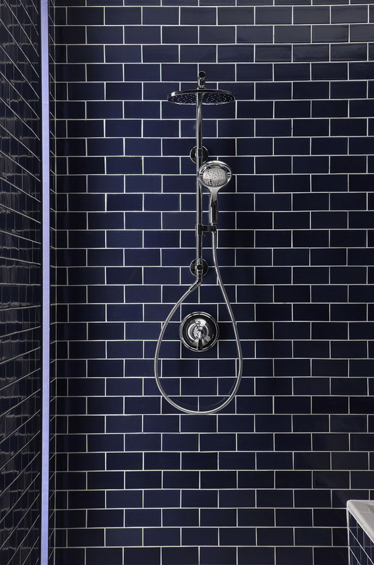 Midnight Navy Blue Tile