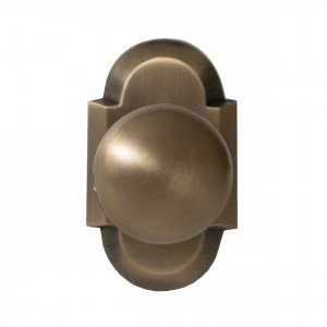 brass rosette door knob