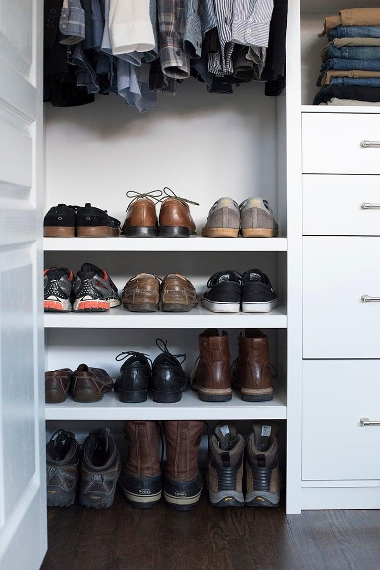 Custom Shoe Storage for Him