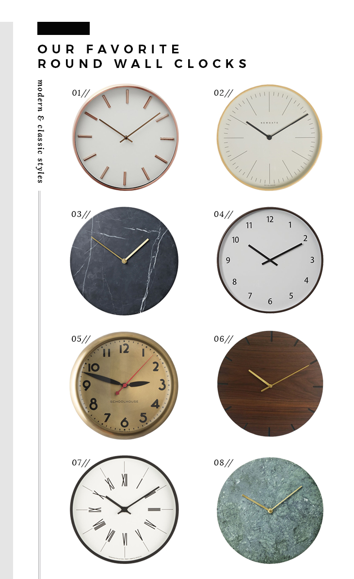 The Best Modern Wall Clocks - Room for Tuesday