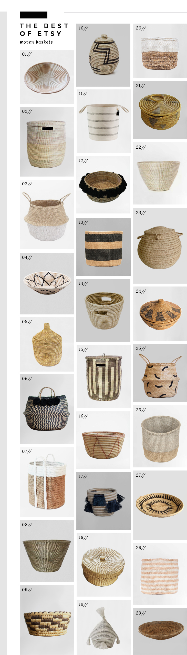 best of etsy woven baskets