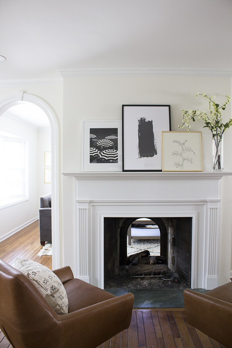Fireplace Mantle Styled 3 Ways - Room for Tuesday