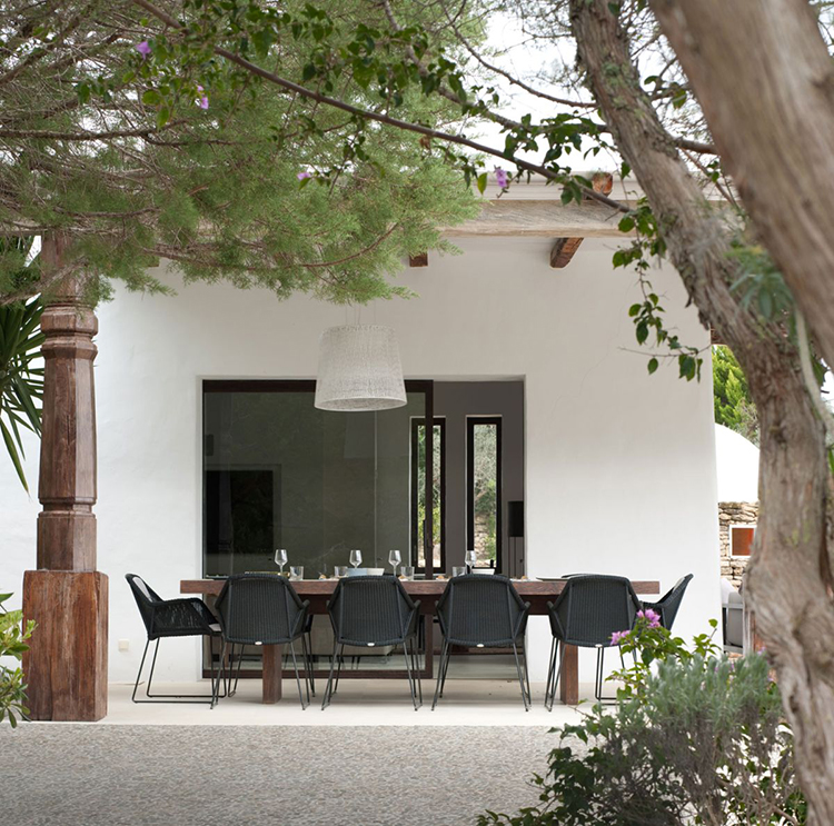 Elegant And Stylish Home In The Baleares: Patio Dining Picks & Pairings