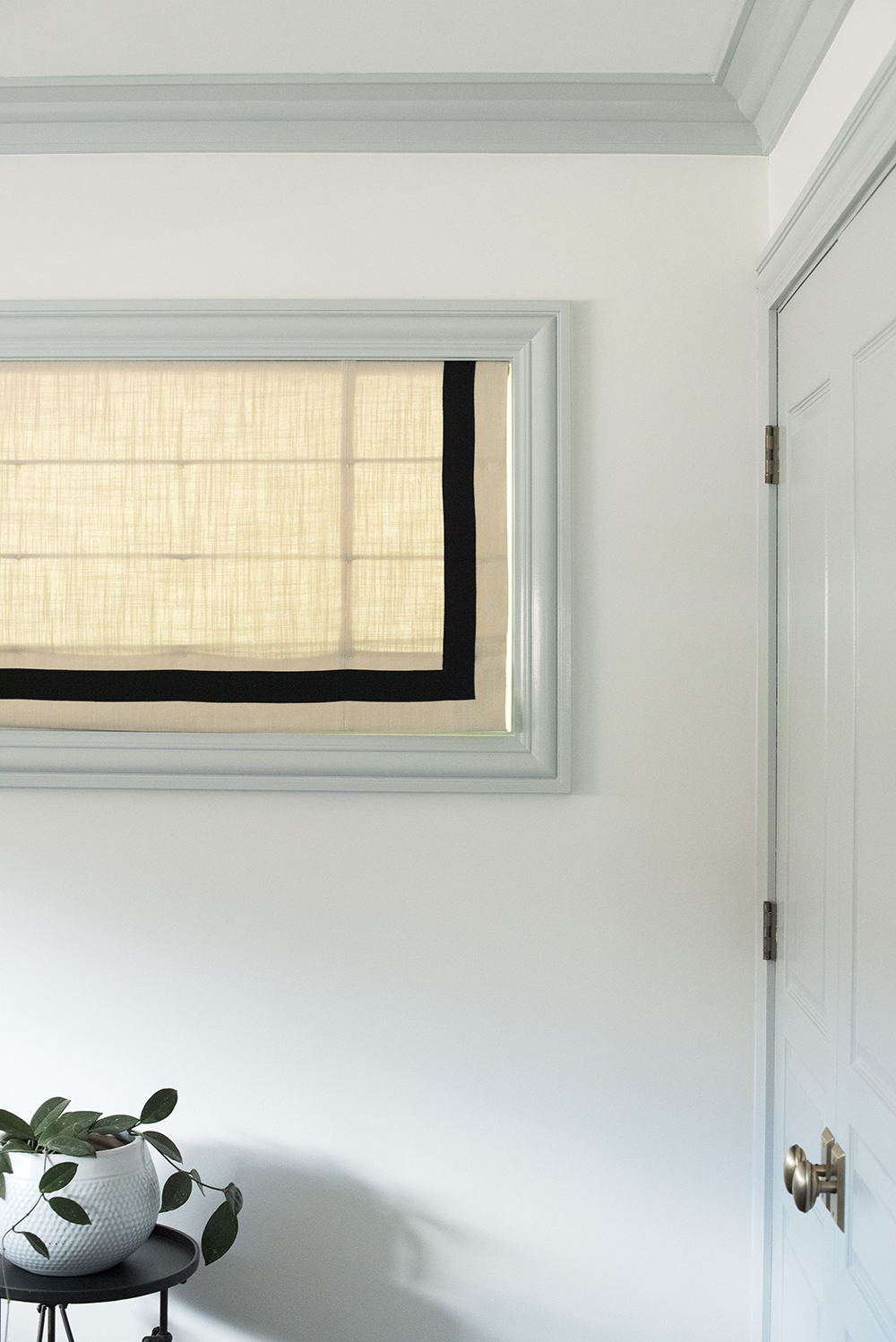 Roman Shade with Inset Border