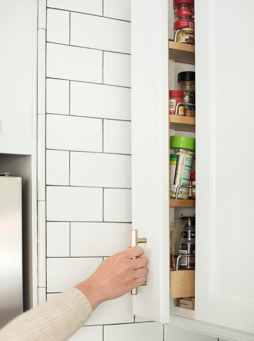 Custom Spice Rack in Kitchen