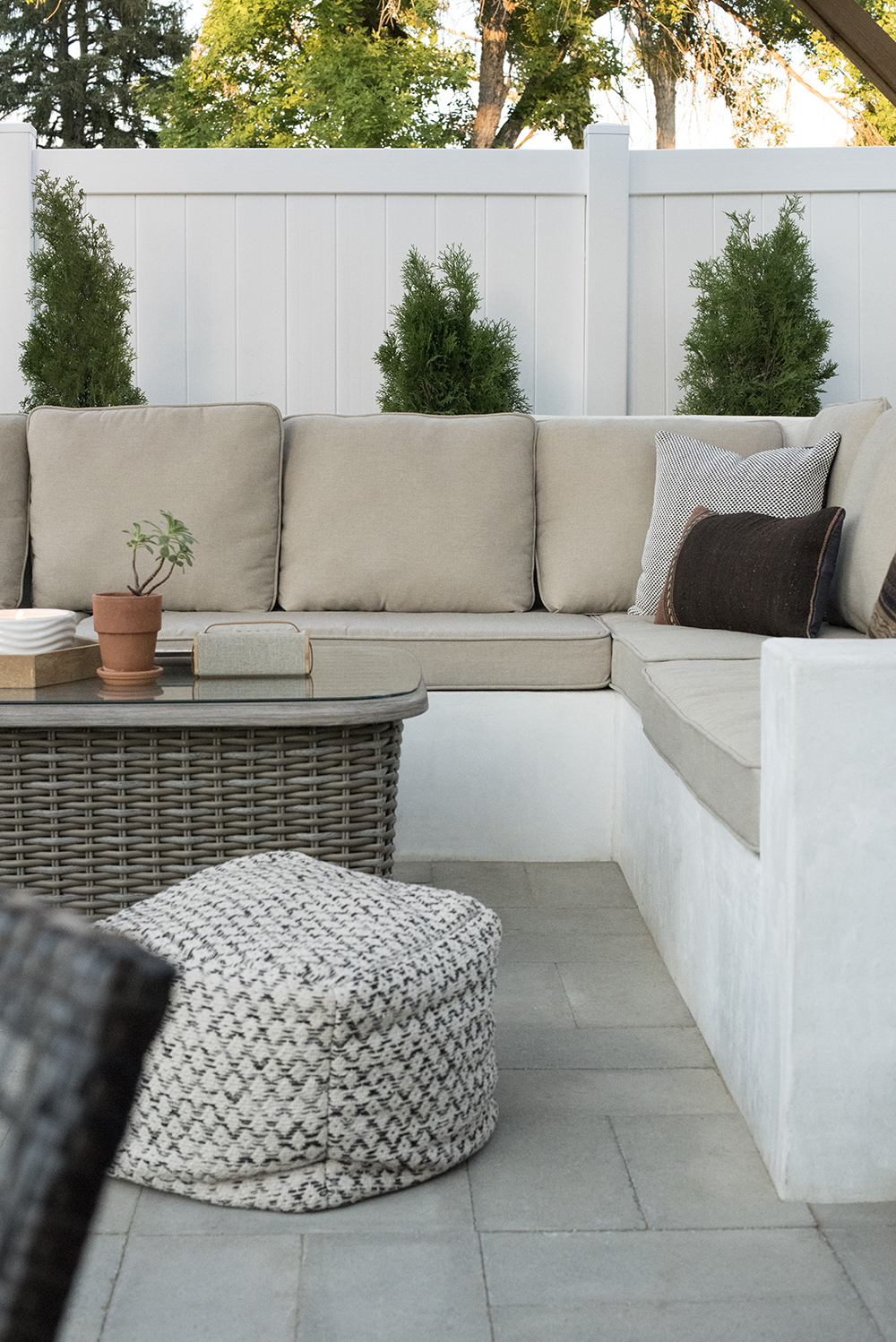 Custom Outdoor Seating DIY Room for Tuesday Blog