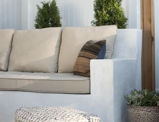 Custom Stucco Seating DIY