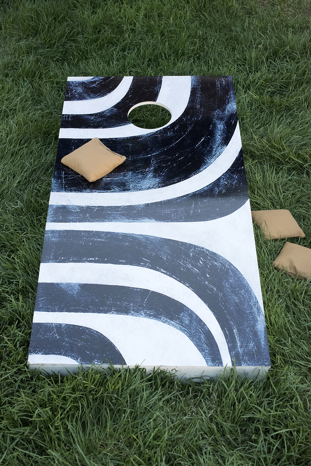 Patterned Cornhole Decal