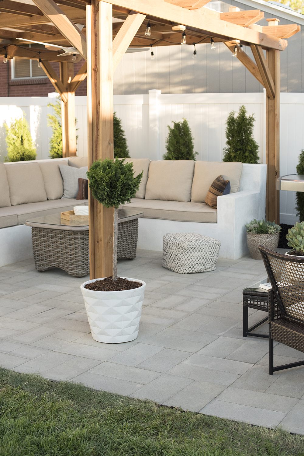How to Install A Custom Paver Patio - Room for Tuesday Blog on Back Yard Patios  id=20575