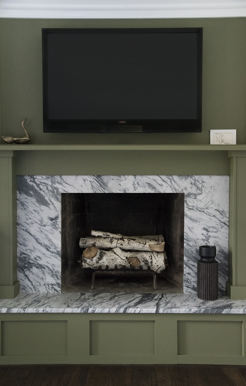 designing our custom fireplace room for tuesday blog