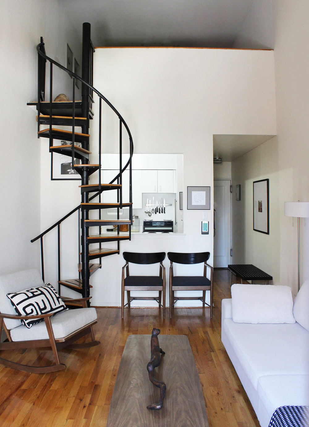 Space saving staircases room for tuesday blog - Small space staircase image ...