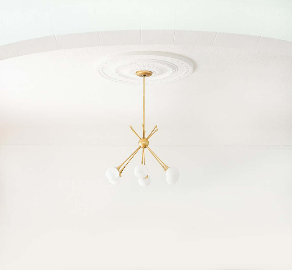 Roundup ceiling medallions room for tuesday blog ceiling medallion with modern light fixture arubaitofo Images