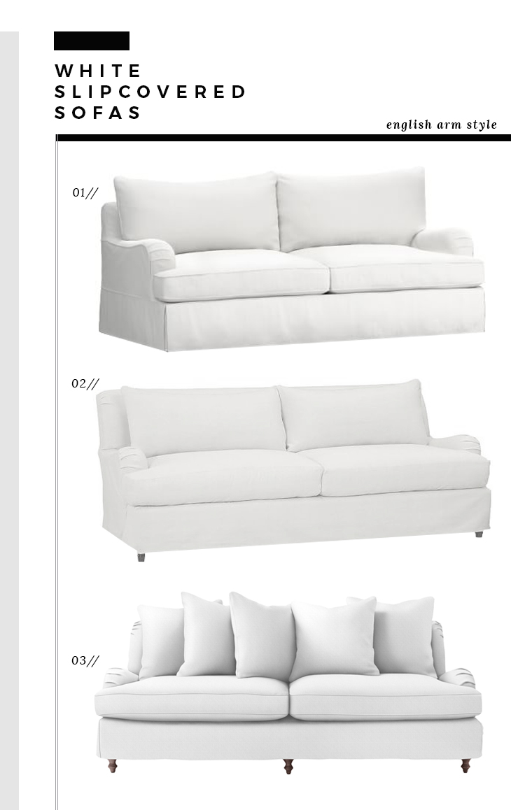 English Arm Slipcover Sofas
