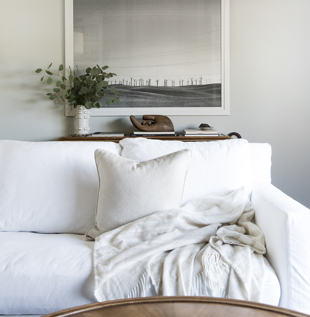 How We Choose : White Slipcovered Sofas - Room for Tuesday Blog