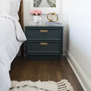 Beach print in bedroom