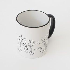 Black and White Dog Mug