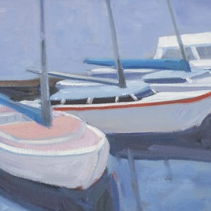 Blue Boats Closeup