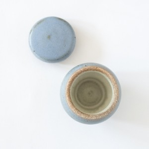 Blue Ceramic Salt Cellar