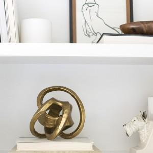 Brass Knot on Shelf
