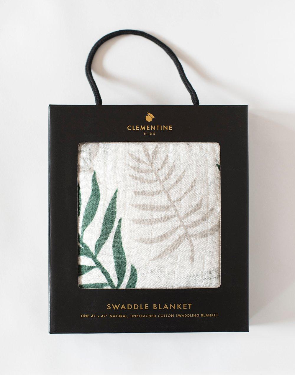 Palm Leaf Swaddle Blanket