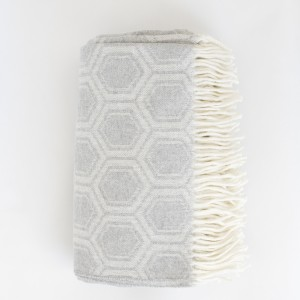 Patterned wool throw
