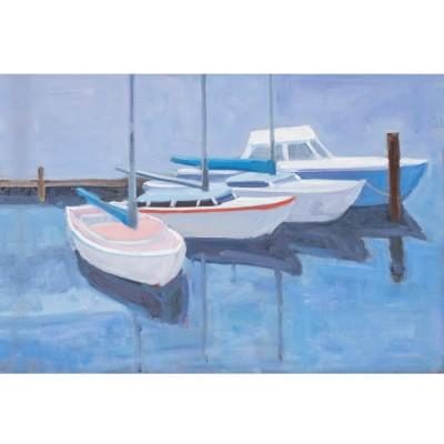 blue boats print