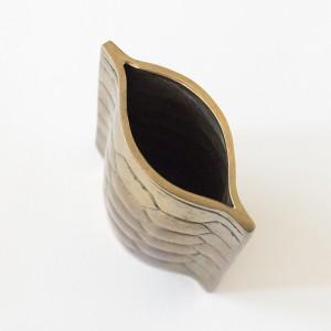 brass tortoise bud vase