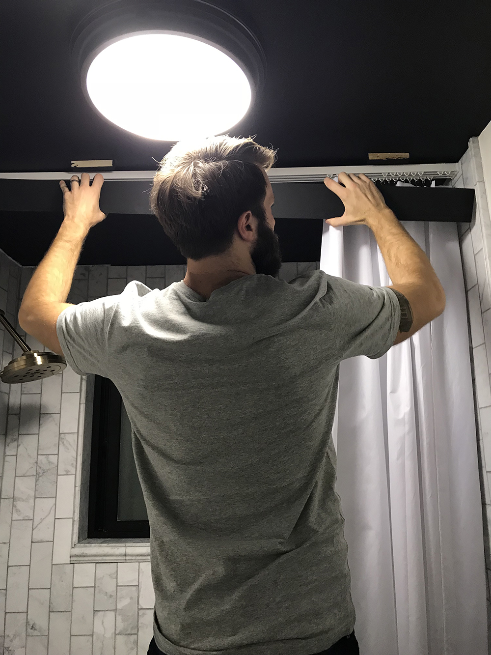 installing shower valence