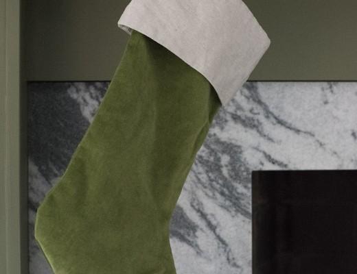 Green Velvet Stocking