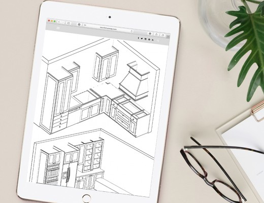 kitchen plans and renderings on ipad