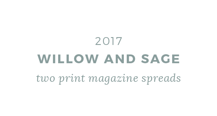 willow and sage printed press