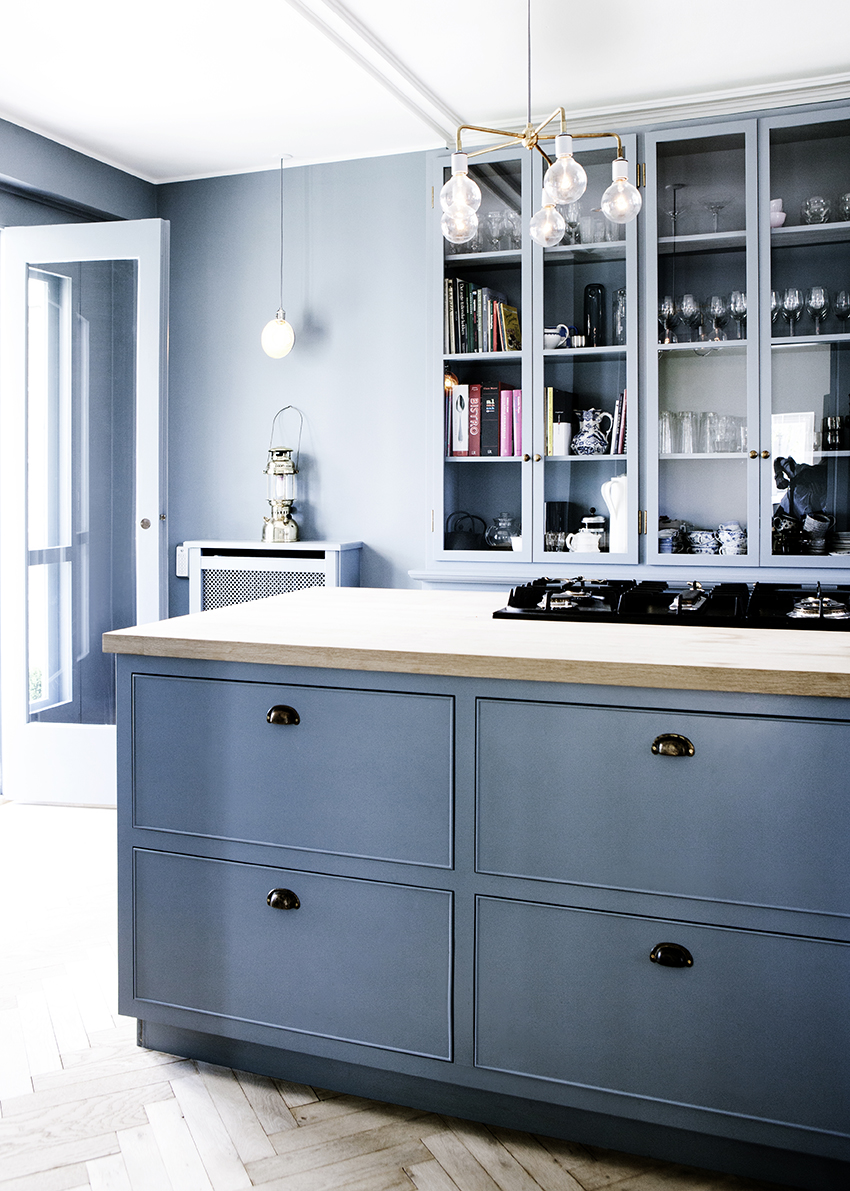 Cornflower Blue Kitchen - Room For Tuesday