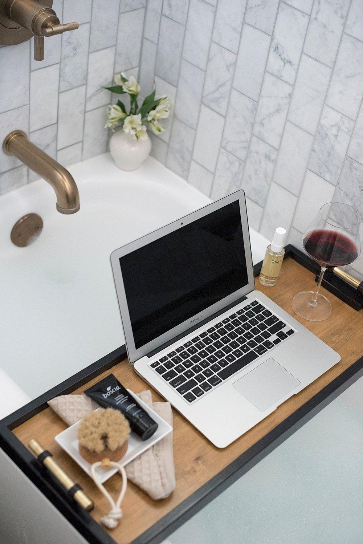 DIY Bath Caddy Tray - roomfortuesday.com
