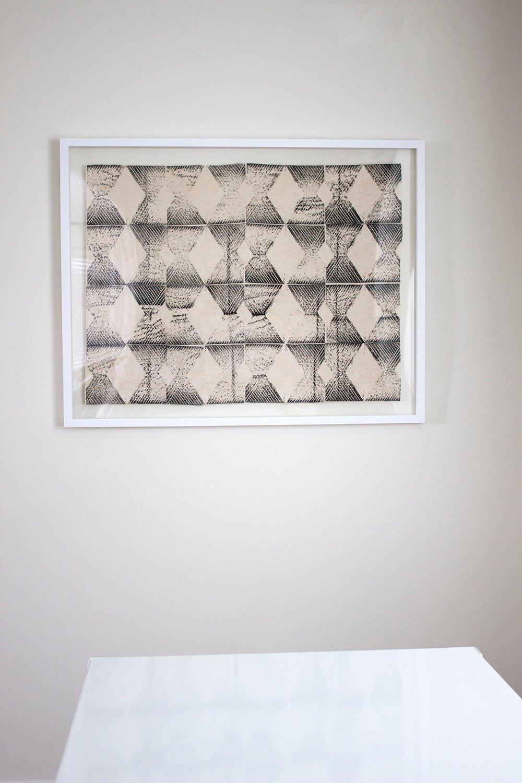 Framed Block Print Fabric Art - Room for Tuesday
