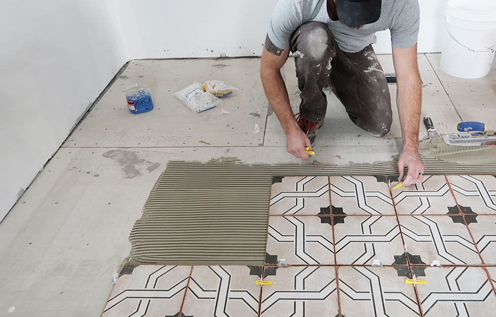 How to Install Floor Tile - roomfortuesday.com