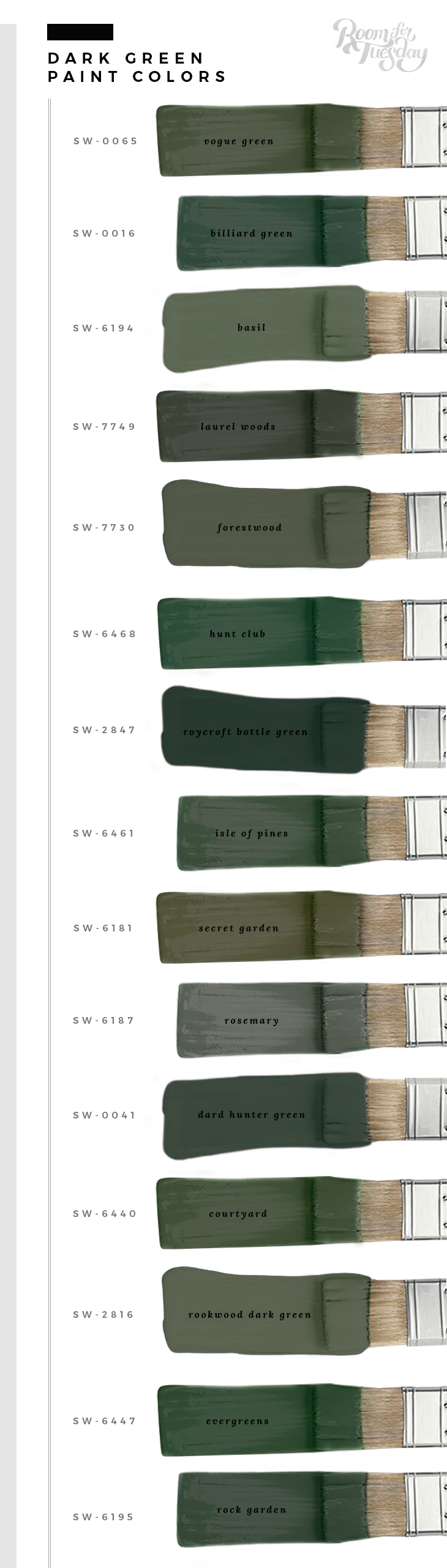 My Favorite Green Paint Colors Room For Tuesday